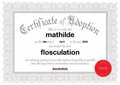 Certificat d'adoption