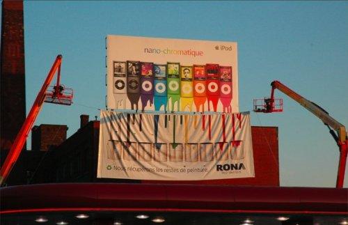 Affichage Rona + Apple