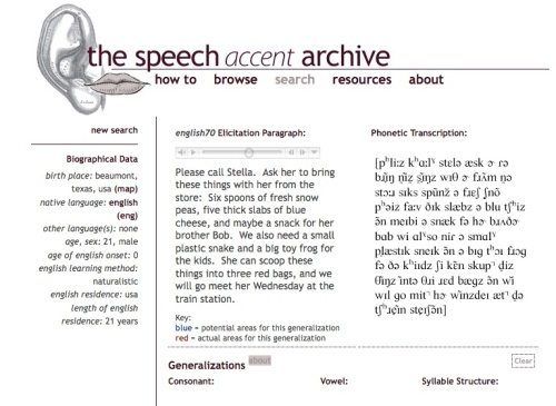 Th Speech Accent Archive