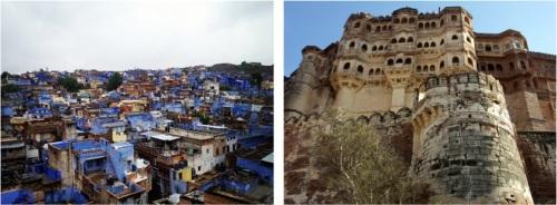 Vue sur Jodhpur, la ville bleue et sur le fort de Mehrangarh